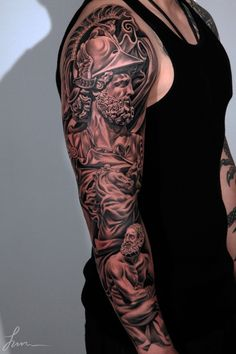 Sleeve Tattoo http://www.cuded.com/2013/10/55-awesome-examples-of-full-sleeve-tattoo-ideas/