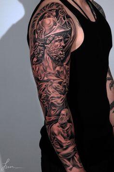 79 3D full sleeve tattoo