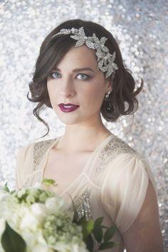 Bride Headband Art Deco Wedding from Christa Elyce