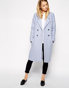 Break up a black and white outfit with a pastel coat for when the temperature drops / the love assembly