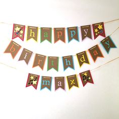 Rock and Roll happy birthday banner || guitar party || music birthday party || colorful banner || banner