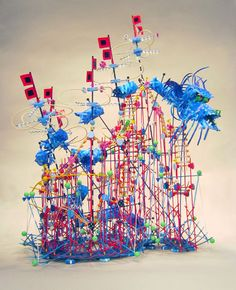 Nathalie Miebach makes models of meteorological systems and marine environments. She also models musical scores. This is Hurricane Sandy. http://nathaliemiebach.com/