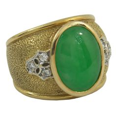 1stdibs - Jade and Diamond Ring in Gold explore items from 1,700  global dealers at 1stdibs.com