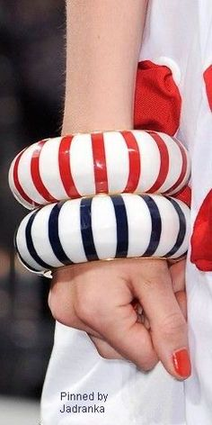 Black White Red, Navy And White, Red And White, Sailor Fashion, Blue Fashion, Nautical Fashion, Nautical Style, Jewelry Trends, My Favorite Color