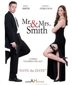 Movie Themed Wedding Mr Mrs Smith Save The Dates Movie                                                                                                                                                      More