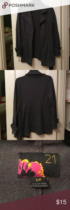 Forever 21 Grey Sweater Peacoat Style. Size small Forever 21 Grey Sweater Peacoat Style. Size small. Will consider reasonable offers.  Ships same or next day! forever 21 Jackets & Coats Pea Coats