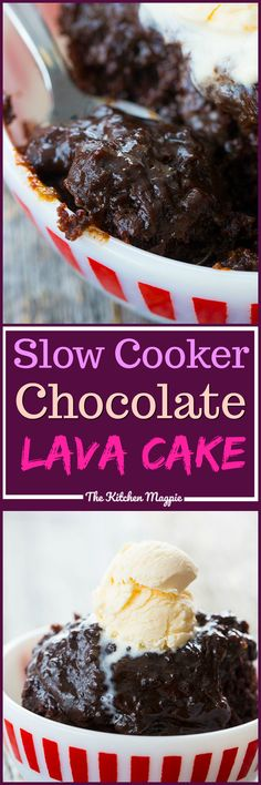 Death By Chocolate Slow Cooker Lava Cake