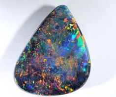 Natural Untreated Loose Opal Piece SKU 1931A012 0.70ct Solid Black Australian Opal Lightning Ridge