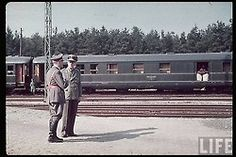 Fuhrerzug. A special train designed for Hitler consisted of 15 carriages: fuhrer's carriage, press secretary's carriage, a carriage with a communication center, two saloon (diner) carriages, a bath-carriage, two carriages for escort and military units, two sleeping carriages, two luggage carriages, a carriage for security guards, two armoured platform carriages with antiaircraft guns. Fuhrer's carriage was not armoured however.