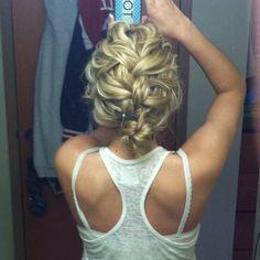 messy braid.