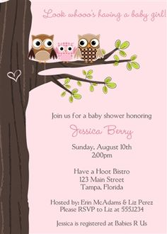 find this pin and more on look whoos having a baby invite guests to your girl baby shower