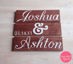 3 Piece Wedding Sign  on Etsy, $25.00