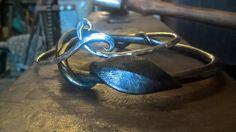www.thenorthernblacksmith.com silver and steel bangle ###