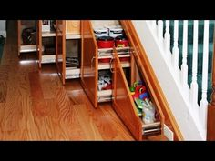Smart Under Stairs Storage Solutions - YouTube