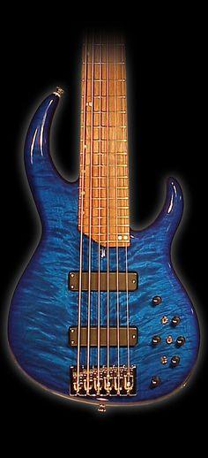 James Tyler Guitars Bass 6str Transparent Blue Quilt