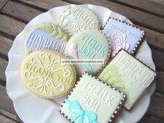 Thank You Cookies |Bambella Cookie Boutique  www.decorazionidolci.it Idee e strumenti per il #cakedesign