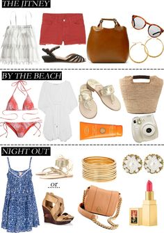 the hamptons style Weekend Packing List, Weekend Vacations, Packing List For Travel, Beach Night, Gossip Girl Fashion, East Hampton, Packing Light, Beach Look, Resort Wear