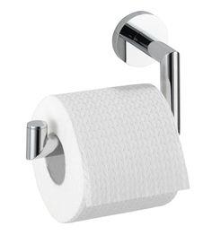 Der Toilettenpapierhalter Revello aus Messing hat eine Power-Loc Wandbefestigung, die eine Befestigung ohne Bohren ermöglicht. Sie sorgt für extrem festen Halt auf allen tragfähigen Oberflächen. Gesehen für € 27,99 bei kloundco.de.