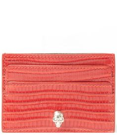 Alexander McQueen Small Red Skull Card Holder | Accessories | Liberty.co.uk