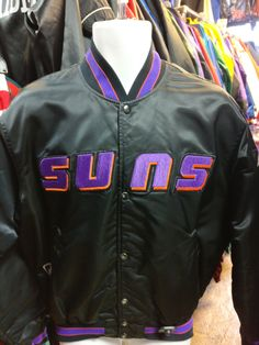 Vintage 80s PHOENIX SUNS NBA Starter Nylon Jacket L 03c9a606a
