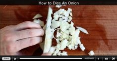 How to Perfectly Dice an Onion like a Pro (Super Fast!) and other videos of kitchen tips