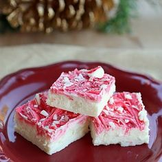 Vanilla Peppermint Fudge. For Christmas ♥