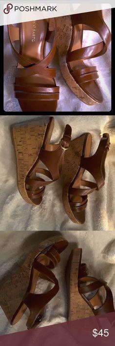 7607bd7605746 Franco Sarto Maestro Cork Wedge Sandals