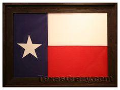 Lone Star Framed 3 x 5 foot Texas Flag in Dark Barnwood Reclaimed Wood Frames, Barn Wood Frames, Rustic Frames, Us States Flags, Flag Store, Texas Flags, Aging Wood, Dark Stains, Office Wall Decor