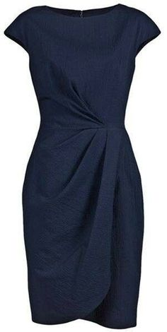 Lela Rose Blue Pebble Cap Sheath Dress - Cocktail dress new Trendy Dresses, Elegant Dresses, Beautiful Dresses, Dresses For Work, Elegant Clothing, Dress Work, Ladies Dresses, Dress Outfits, Fashion Dresses