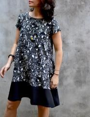 The (NEW and UPDATED)Gabby Dress Pattern -this simple, loose-fit dressfeatures a lov...
