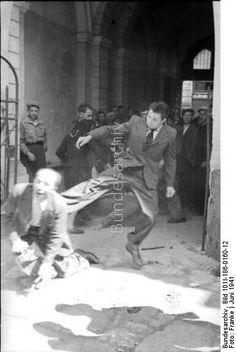 Abuse of a jew. Ukraine 1941.