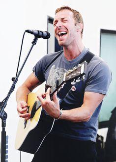 Chris Martin and his Martin Guitar