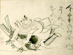 恵比寿さま(『恵比寿図』 仙厓義梵 画)