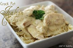 Crock Pot Italian Chicken!...   Only 4 ingredients to make it! It is delicious!
