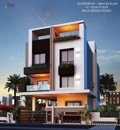 Exterior Design Name Ideas Modern Exterior House Designs, Modern Architecture House, Modern House Plans, Modern House Design, Exterior Design, 2 Storey House Design, Bungalow House Design, House Front Design, Small House Design
