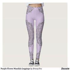Purple Flower Mandala Leggings