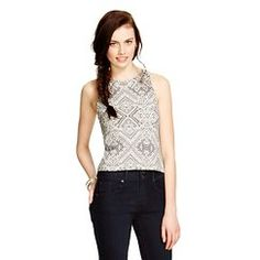 Women's High Neck Fitted Cropped Tank - Mossimo Supply Co.™ (Junior's) - Flat Gray