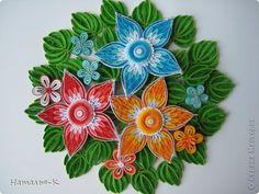 Картина панно рисунок Квиллинг Цветы Бумажные полосы фото 1 Great picture tutorial