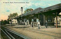 1915 postcard of North Leominster station