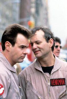 Dan Aykroyd and Bill Murray in Ghostbusters (1984)