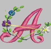 Eu gosto de BRINCAR!: Alfabeto Bordado Rosa