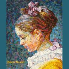 "62 Likes, 4 Comments - Bisaro Gianpietro (@bisaromosaici) on Instagram: ""Tribute to G. H. Fragonard #bisaromosaici #GianpietroBisaro #artworks #mosaicportrait #mosaico…"""