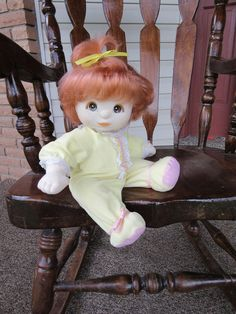 Mattel My Child Doll Redhead/Brown Eyes with Original My Child Yellow Sleeper