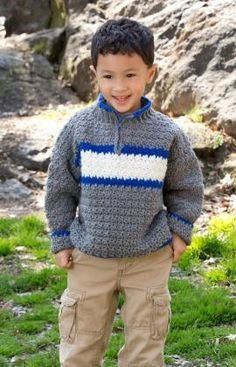 Rugby Pullover Crochet Pattern
