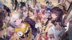 Read chap 49 from the story [onmyoji] fan art by chotaxoacumi (cutataxoacumimixoa) with 362 reads. Anime Artwork, Cool Artwork, Kawaii Girl, Kawaii Anime, Geisha, Character Art, Character Design, Onmyoji Game, Animal Ears