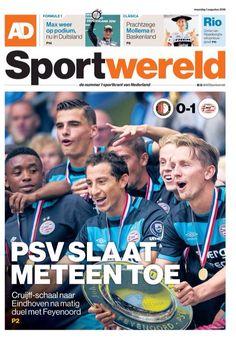 PSV pakt de eerste prijs van het nieuwe seizoen. Het wint met 1-0 de Johan Cruijff-schaal na een matig duel met Feyenoord. Sportwereld 2016-08-01