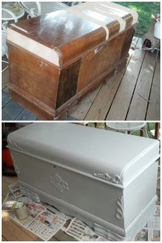 Hope Chest Makeover That I Did With My Mom! This Was So Much Fun To