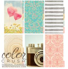 Websters Pages - Color Crush Collection - Personal Planner Divider Kit - Dip Dye - Gold at Scrapbook.com