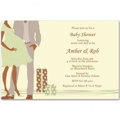 modern printable couples baby shower invitations bs060