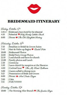 Digital Bridal Party Itinerary Wedding Weekend Itinerary Wedding Timeline Wedding Activities Schedule Wedding Guest Itinerary is part of Wedding weekend itinerary Keep your bridal party info - Wedding Weekend Itinerary, Wedding Day Schedule, Wedding Planning Timeline, Plan Your Wedding, Wedding Tips, Trendy Wedding, Perfect Wedding, Event Planning, Wedding Events
